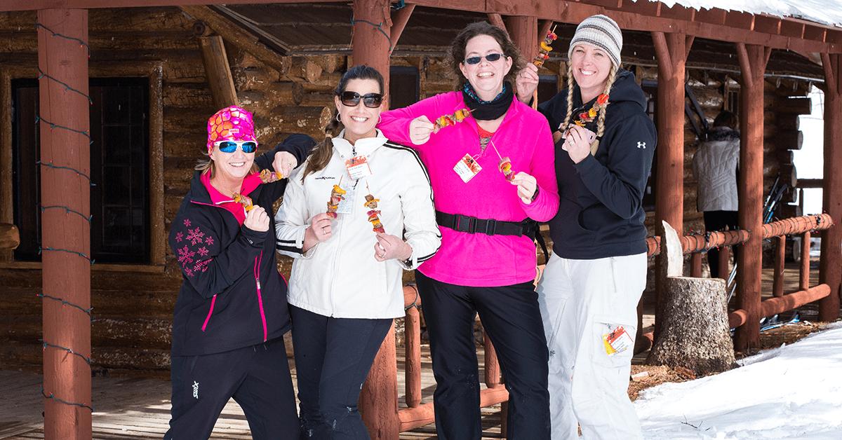 4 women enjoying Skiable Feast