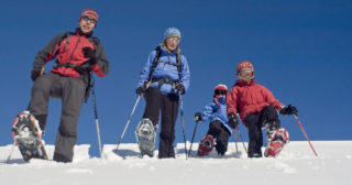 Snowshoeing vs. Cross Country Skiing