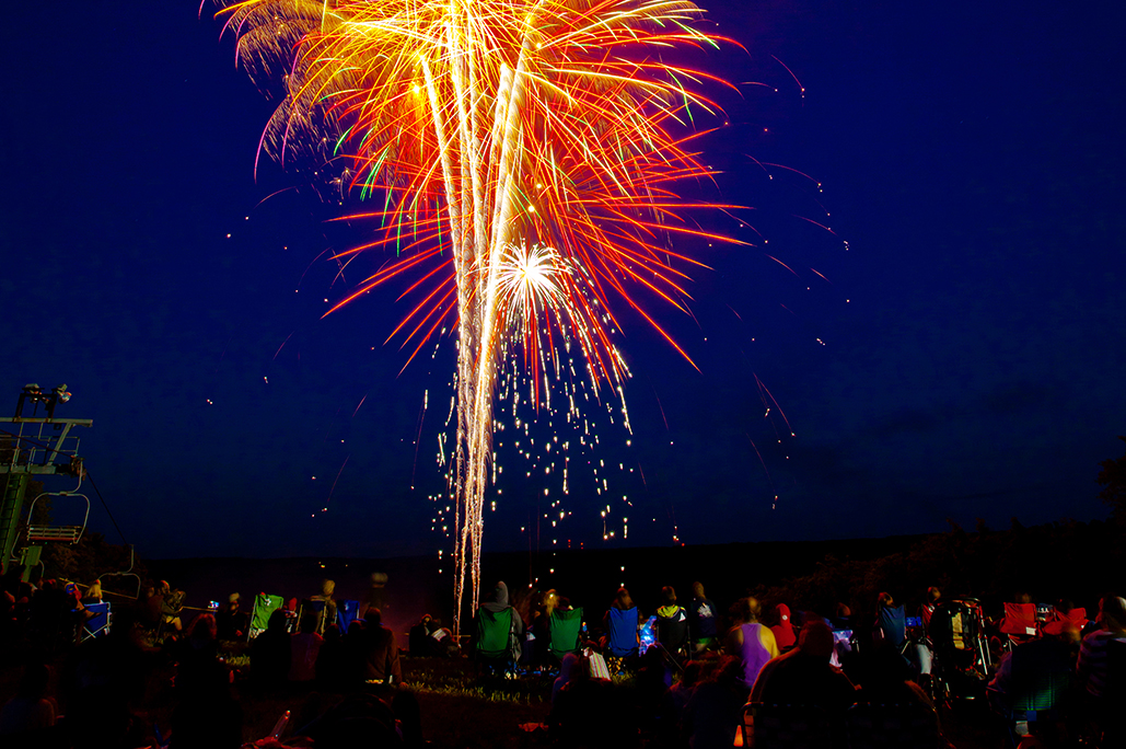 Fireworks display in Northern Michigan at Treetops Resort