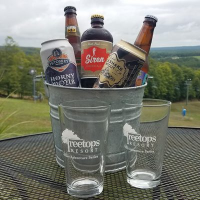 Bucket of craft beer with a view