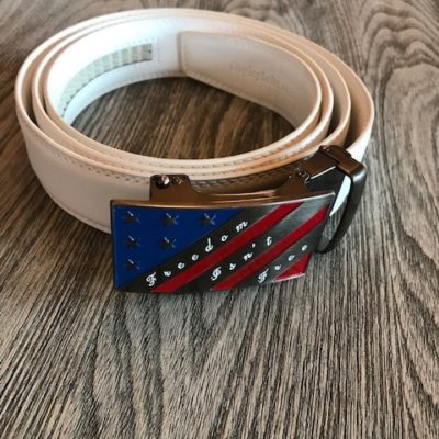 White with Freedom Isn't Free Buckle